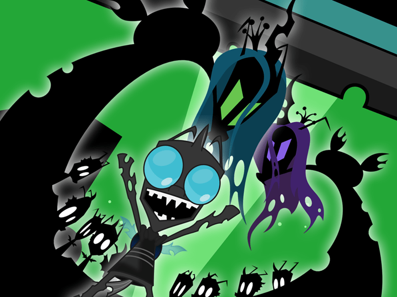 Invader Zim chrysalis changelings - 8807425280