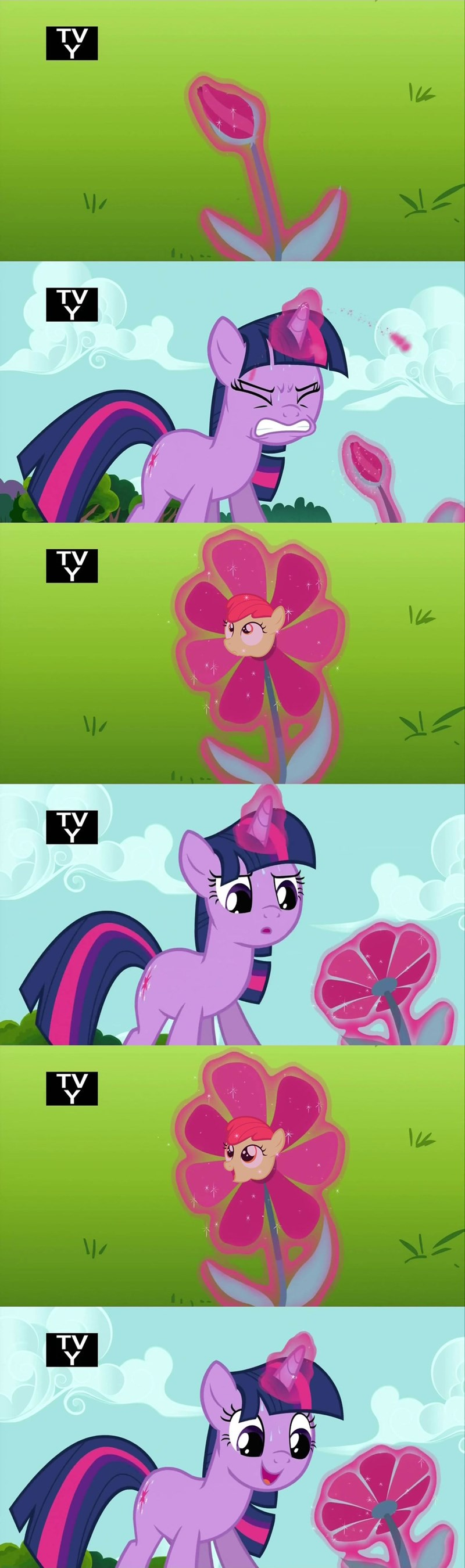 apple bloom,comic,twilight sparkle,magic duel