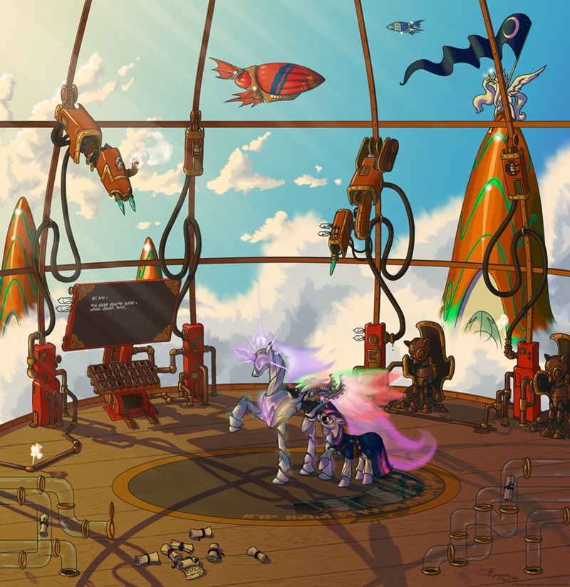 princess celestia twilight sparkle Steampunk - 8809981184