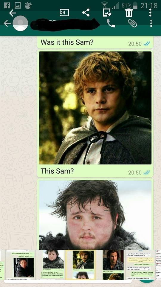 Movie - 51% 21:18 Was it this Sam? 20:50 This Sam? AD 20:50 ausau roveie Se e