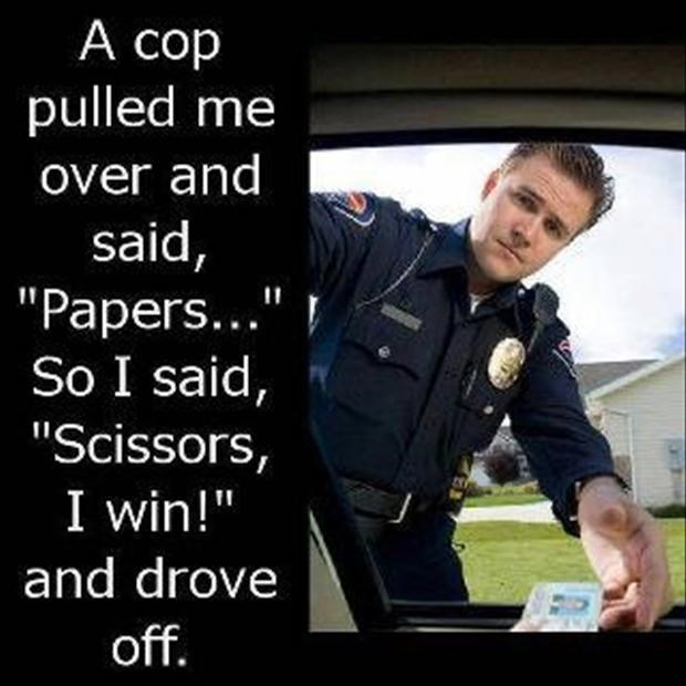 clever puns rock paper scissors police - 8811136768
