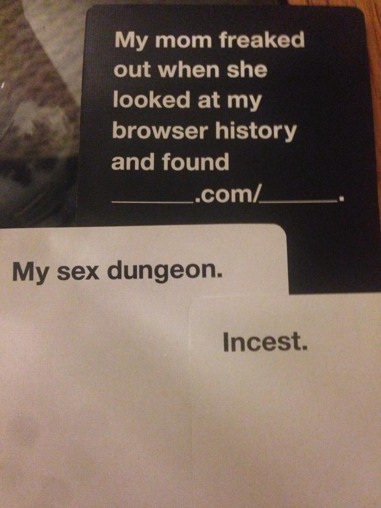 parenting cards against humanity win incest dating