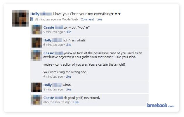 grammar english failbook facebook spelling - 8811522816