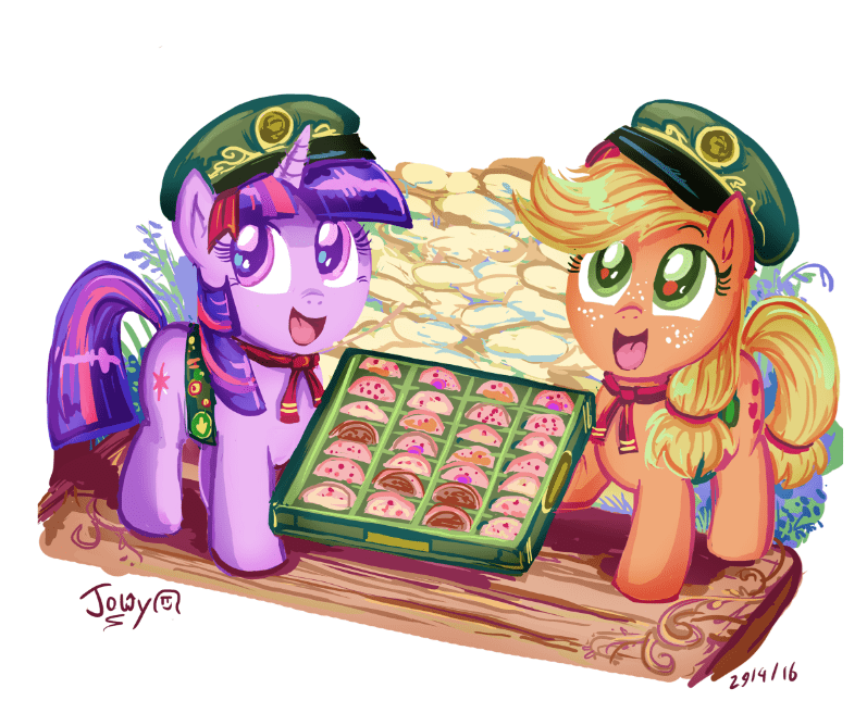 applejack girl scout cookies twilight sparkle girl scouts - 8811758848