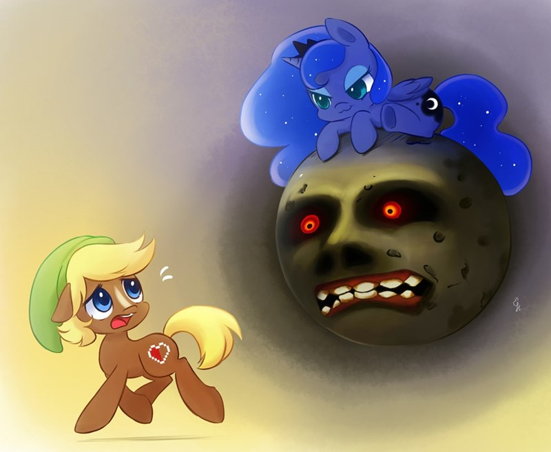 link,legend of zelda,princess luna,ponify,majoras mask