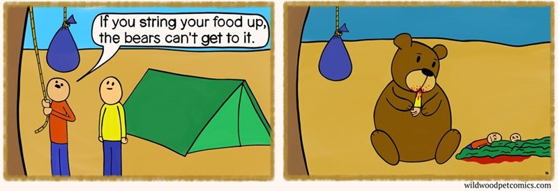 wtf bears camping food eating web comics - 8811881472