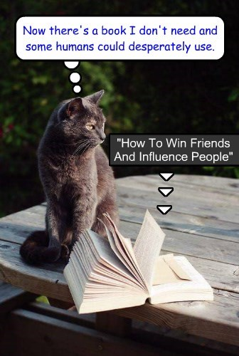 """How To Win Friends And Influence People"" by Dale CATnegie"