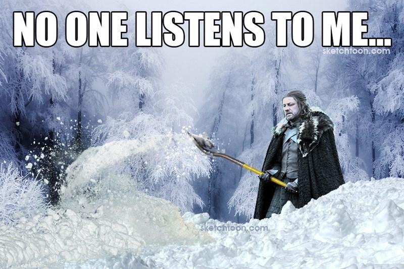 Game of Thrones ned stark winter caption - 8812242176