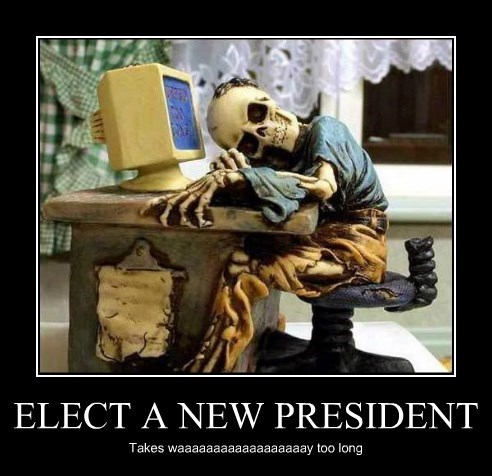 ELECT A NEW PRESIDENT