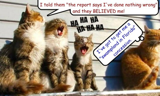 fun with a pathological liar (try reading the report yourself, it's available online)