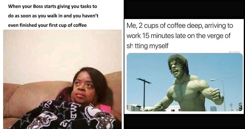 Funny memes about coffee, Monday