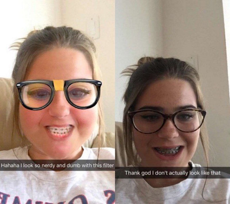 "image snapchat puberty This ""Nerdy"" Snapchat Filter Is Disappointingly Accurate for These Teens"