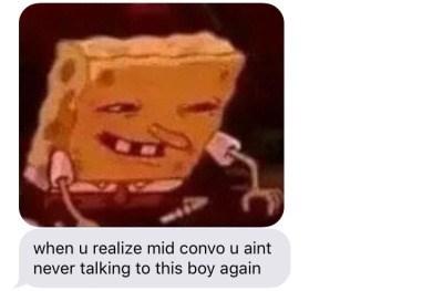 SpongeBob SquarePants,texting,dating