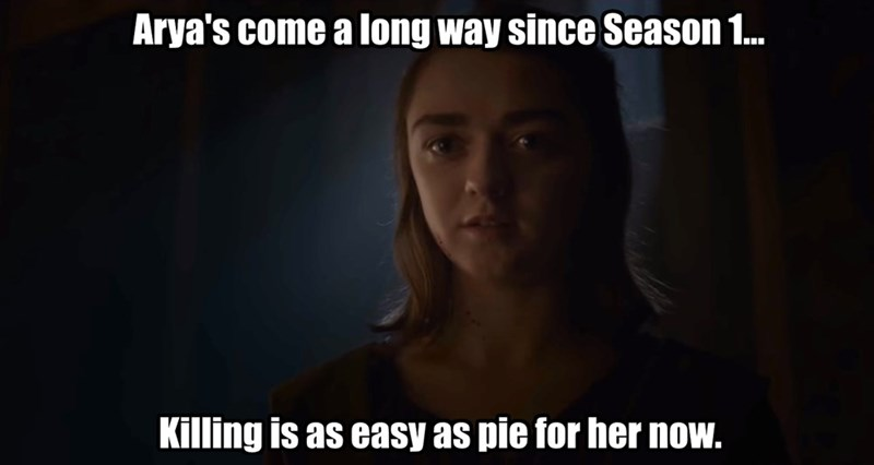 starks Game of Thrones arya stark puns - 8813406464