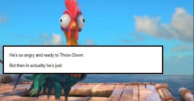 disney's moana, moana's chicken, explanation how the chicken in moana became stupid