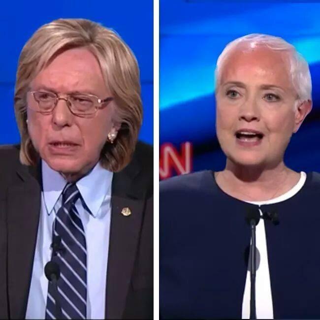 Democrat Hillary Clinton hair bernie sanders - 8813624832