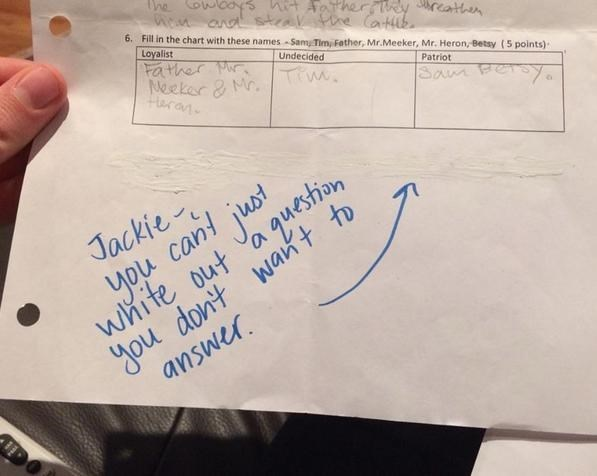 Ok But Can Jackie Some Extra Credit For the Effort?