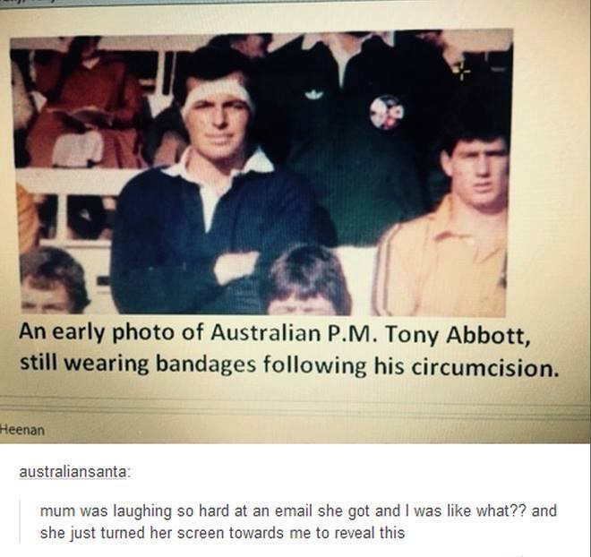 tony abbot clever puns prime minister parents