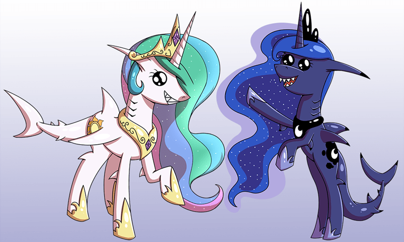 shark week princess luna ponify princess celestia - 8816224768