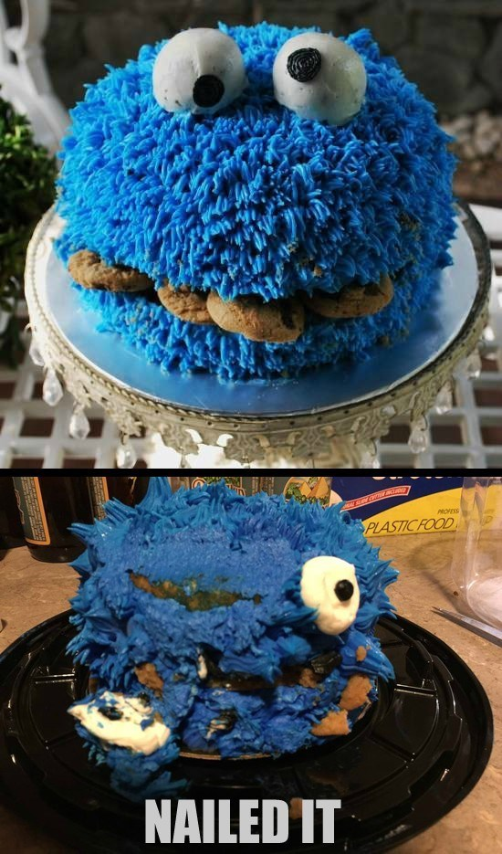 cake pinterest FAIL Cookie Monster - 8816467968