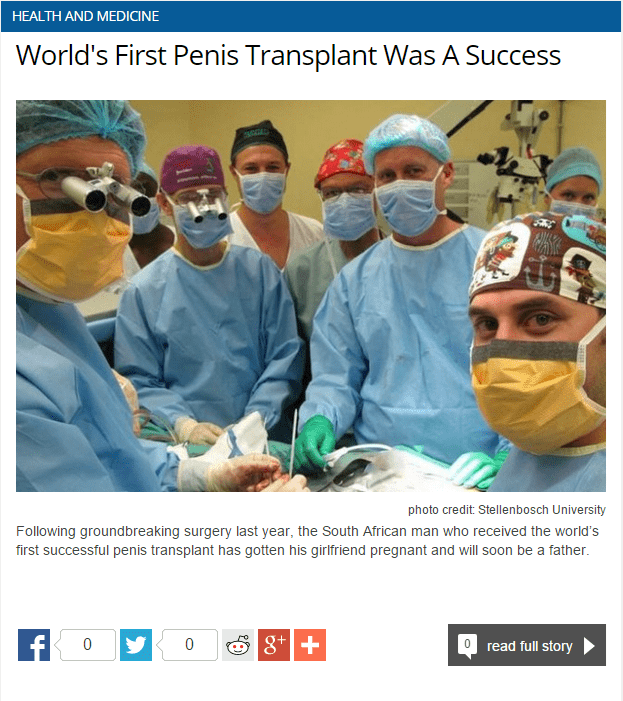 FAIL headline penis surgery newspaper - 8816548864