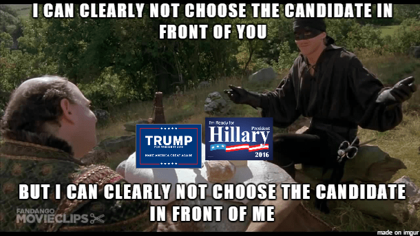 donald trump Hillary Clinton princess bride Democrat republican - 8817111552