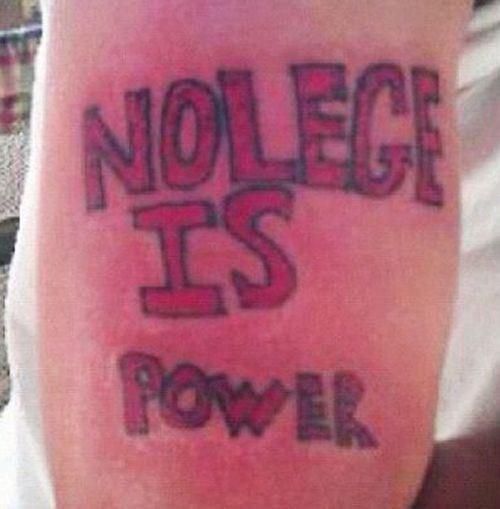 FAIL tattoo spelling - 8817658112