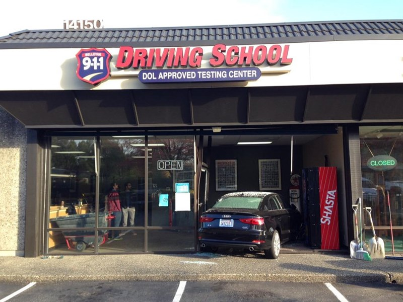 FAIL car crash driving school