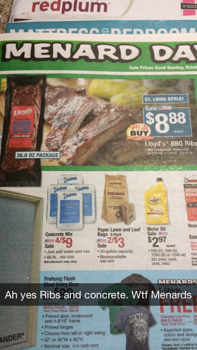 advertisement FAIL food cement ribs - 8817817856