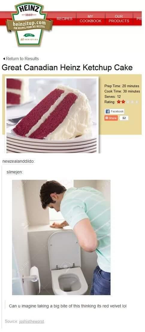 cake gross ketchup image - 8817906688