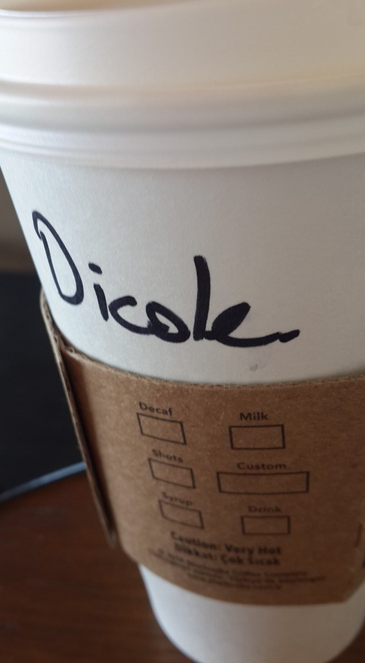FAIL Starbucks spelling name - 8818014720