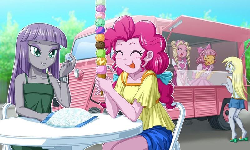 fawn doo equestria girls derpy hooves marcie pan pinkie pie maud pie - 8818118144