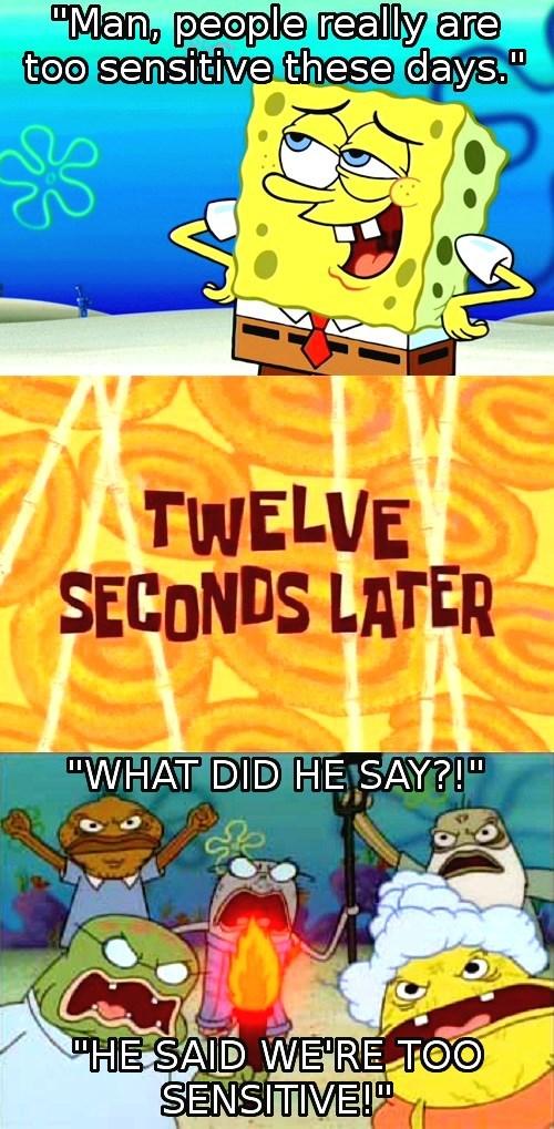 sensitive SpongeBob SquarePants - 8818484736
