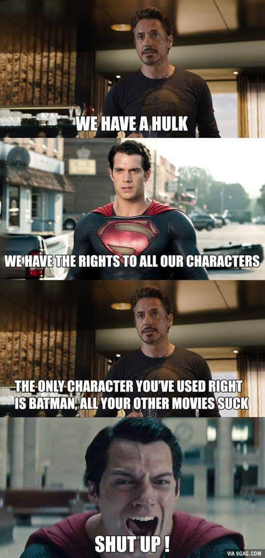 marvel DC iron man superheroes insult superman - 8818629376