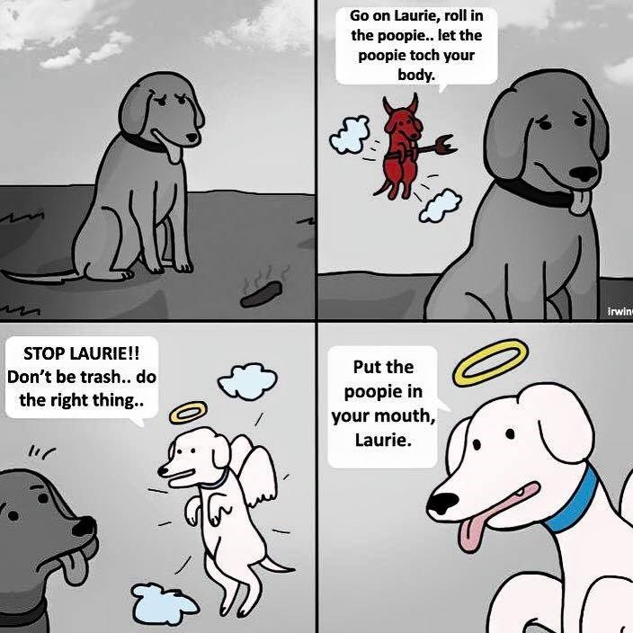 angel dogs poop advice web comic - 8818662656