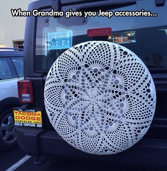 crochet car jeep grandma win
