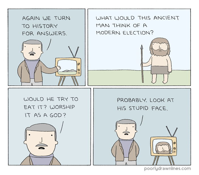 web-comics-poorly-drawn-lines-caveman-voting