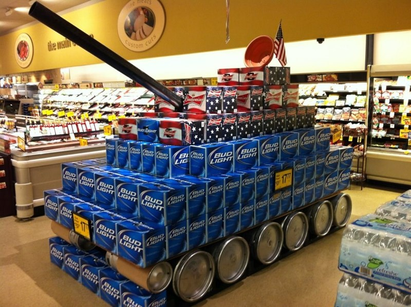 display beer tank america classic win