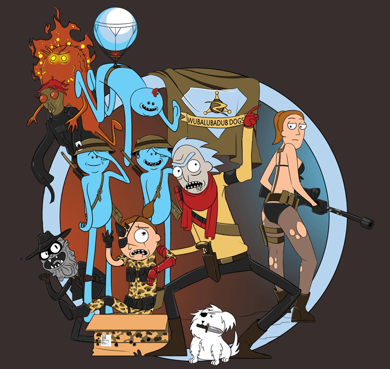 rick and morty art metal gear solid cartoons video games - 8819077120