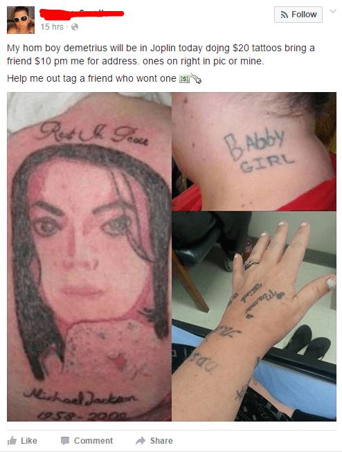failbook tattoos facebook - 8819129344