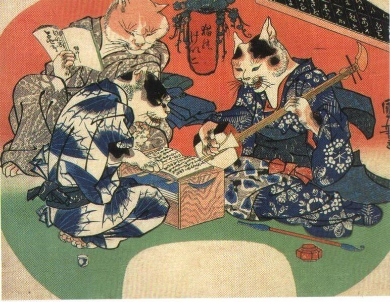 art Japan Cats - 8819191296