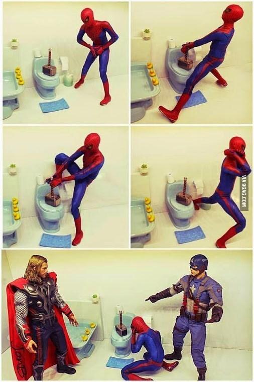 spider-man-avengers-thor-trolling-captain-america