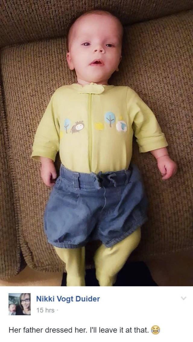 Babies dads parenting dad dressed up - 8819489536