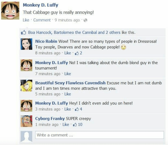 funny-anime-monkey-d-luffy-straw-hat-facebook-update