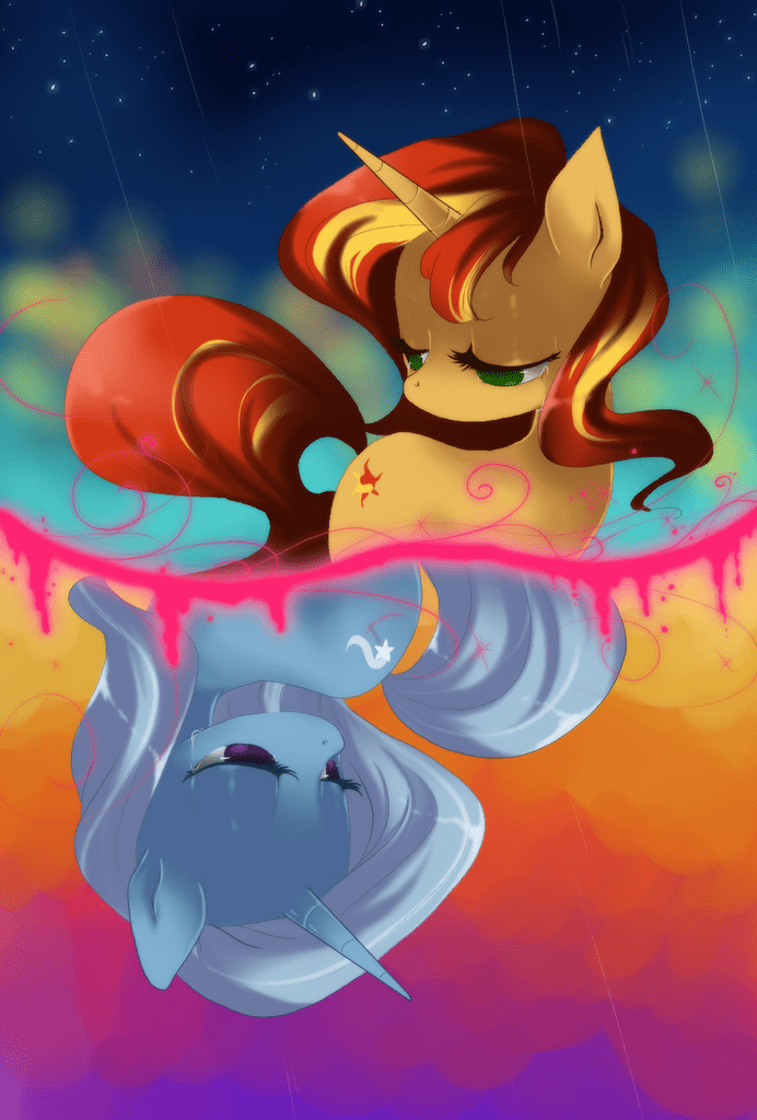 the great and powerful trixie,inside joke,sunset shimmer