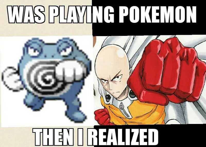 Pokémon poliwhirl anime one punch man