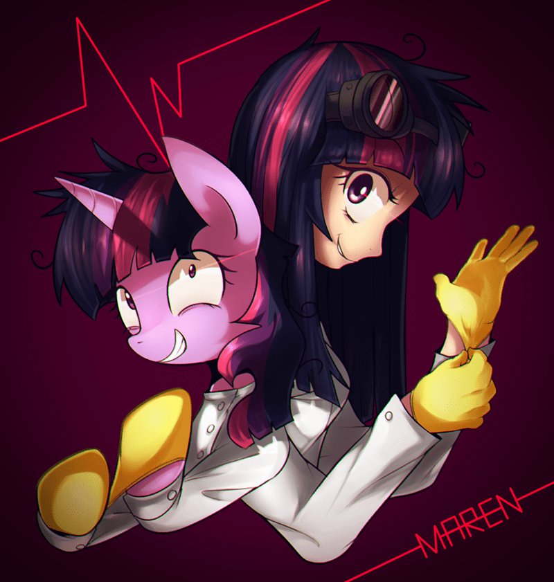 humanized twilight sparkle science - 8819812352