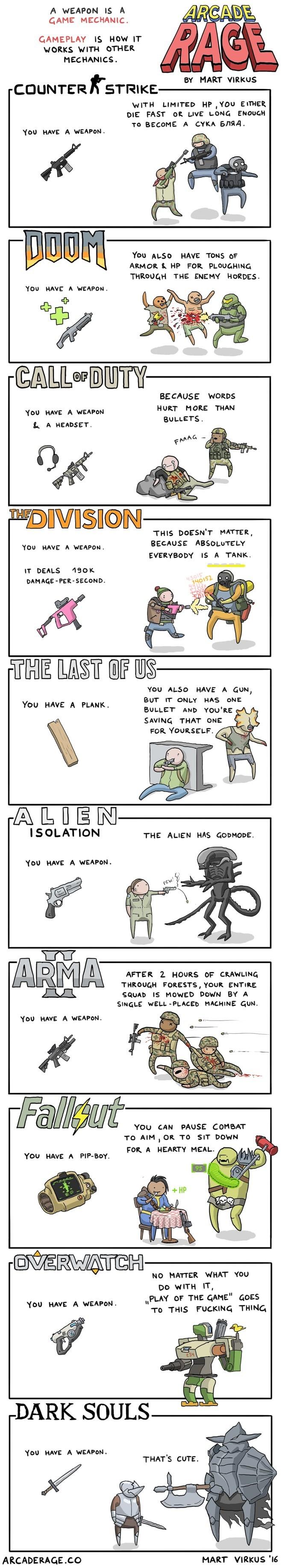 web-comics-perfectly-explain-different-video-gameplay-using-combat-mechanics