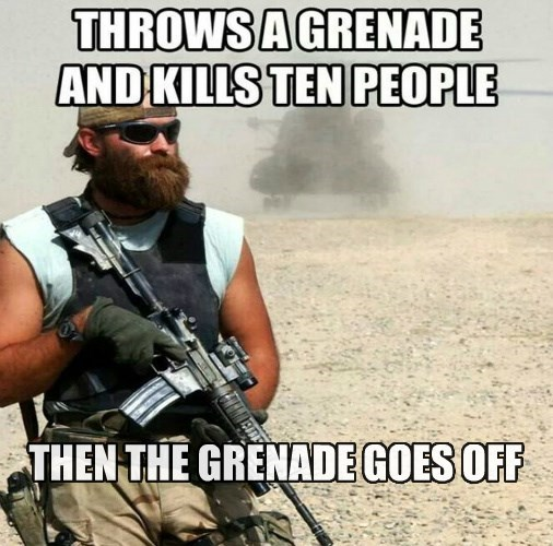 THEN THE GRENADE GOES OFF