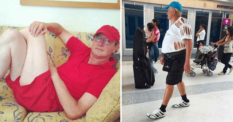 Funny pictures of dad fasion, socks with sandals, fathers.